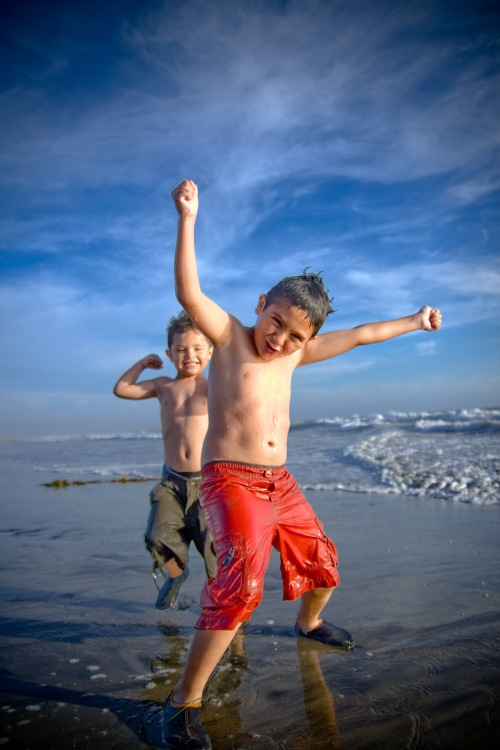 children, beach, traveling