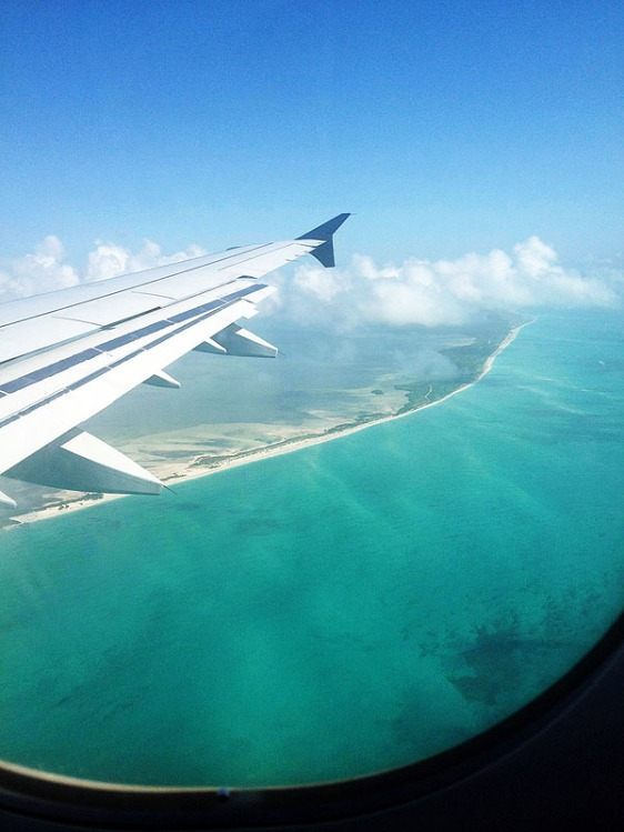 Flying into Cancun International airport