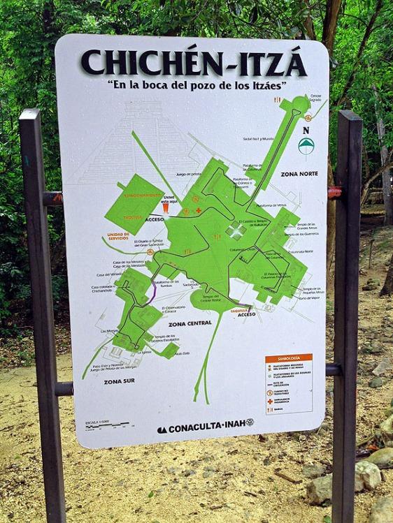 ChichenItzaMap aavtravel