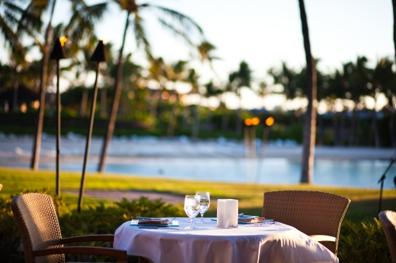 big island hawaii, kohala coast, dining, oceanfront, beach, hawaii
