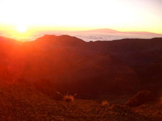 haleakala, volacno, sunrise, maui, hawaii, aavtravel