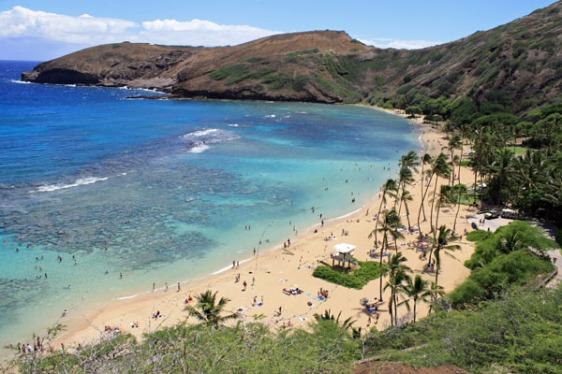 Haunama bay, oahu, snorkeling, hawaii, aavtravel