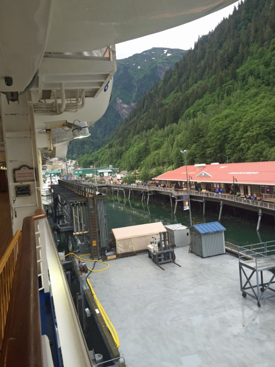 juneau, cruise pier, crown princess, alaska, aavtravel