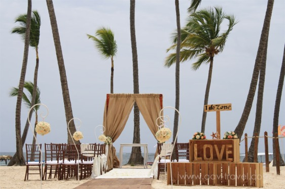 destination wedding, punta cana, dominican republic, la romana, secrets, dreams, now, aavtravel, beach wedding, burlap, rustic