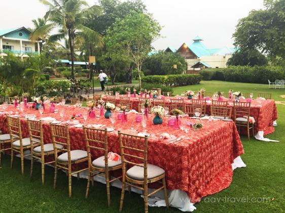 destination wedding, punta cana, dominican republic, la romana, secrets, dreams, now, aavtravel, beach wedding, reception, rain