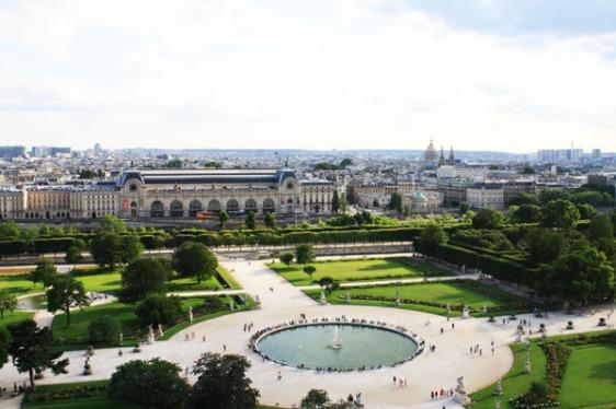 jardin des tulieries, tuileries, musee d'orsay, paris, gardens, aavtravel