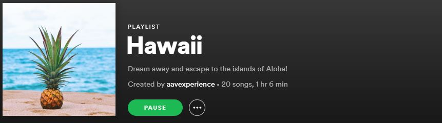 hawaii playlist aavexperience